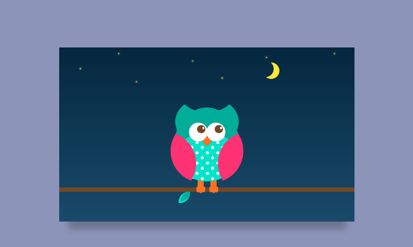 owl CSS illustration