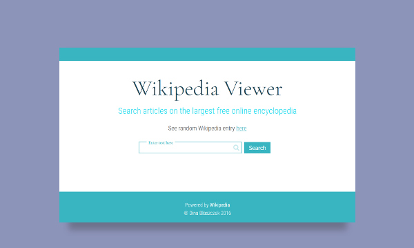 wikipedia viewer app